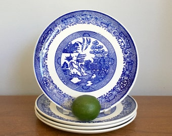 blue willow plate etsy