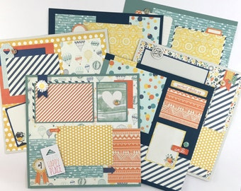 Scrapbook Page Kit 12x12 or Premade Pre-Cut with Instructions 6 pages All Occasion