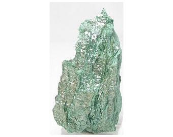Fuchsite Chrome Mica with Silvery Sheen, Brilliant Green Muscovite, Mineral Specimen,  Earth Nugget Wonder Stone