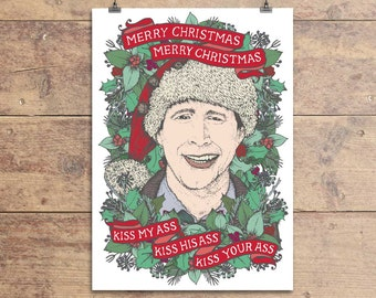 Chevy Chase - National Lampoon's Christmas Vacation - Funny Christmas Greeting Card