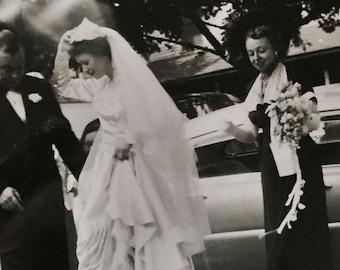 Original Vintage Photograph Wedding Arrivals