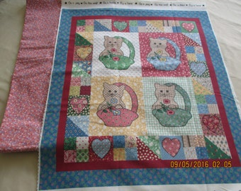 Little Quilts by Fabri-Quilt panel and 1/2 yard backing