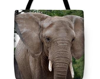 Elephant Charging Tote Bag