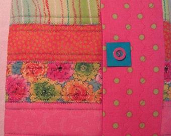 pink flower stripe compostion cover