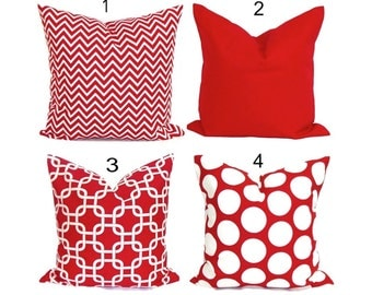 Red Pillows. Red Pillow Cover, Decorative Pillow, Red Throw Pillow, Red Pillows, Red Accent Pillow, All Sizes, Euro, Cushion, Christmas, cm