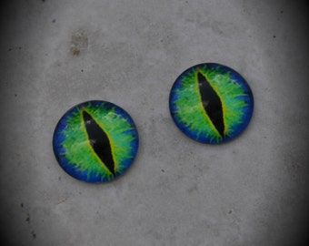 20mm Iris Cat Eye Glass Cabochon Z135