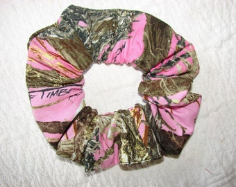 True Timber MC2 Pink Camo Fabric Hair Scrunchie, women's accessories, feminine hunter, camoflauge tie, camo accessory, gifts for her