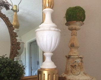Vintage Gilt and Marble Lamp Hollywood Refency Lamp Lighting