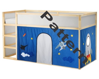 Bed Playhouse Pattern / Kura bed playhouse pattern / Bed curtain pattern