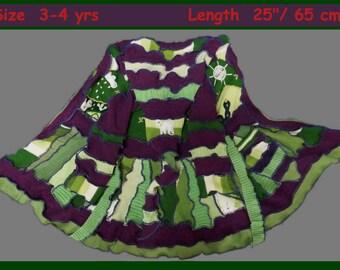 Elf cOAT, children elf sweater, size 3yrs, size 4yrs, children sweater, hoodie, patchwork, dress, todler hoodie, todler sweater