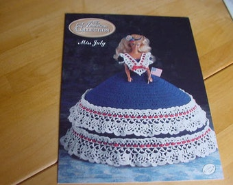 "Crochet Pattern for Miss July, Annie's Calendar Bed Doll Society, The Antebellum Collection, 11 1/2"" Doll"