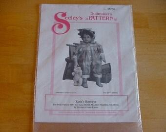 "1995 Seeley's Dollmaker's Pattern, No. MP56, Kata's Romper, 23 1/2"" Doll, Uncut"