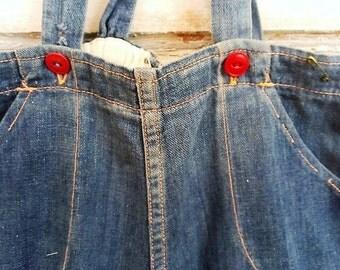 Vintage Overalls | Washed Denim | Vintage Denim | Size 2 Overalls |Vintage Boy | Ellie Ann and Lucy