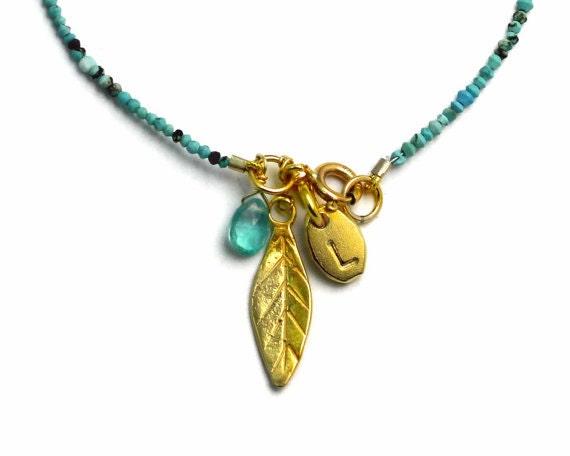 Personalized bracelet. Birthstone and initial bracelet. Custom Charm Bracelet. Choice of Skinny Gemstones B-1930-4