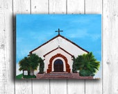 Chapel Painting Digital download, Printable original art, Digital 8x10 art printable