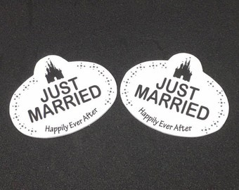 Just Married Disney Inspired Name Tags