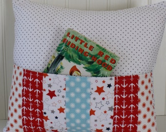 Pocket Pillow, Reading Pillow, Nursery Decor