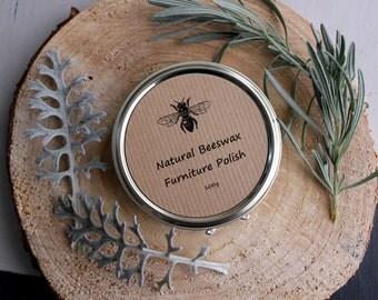 Natural Beeswax Wood Polish - Food safe Polish - Turpentine Free