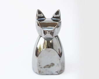 Small Anubis Dog Urn- Chrome