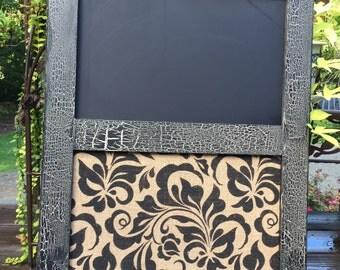 "30x22"" Black vintage chalk and cork board"