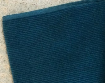 Teal Blue Corduroy Fabric 1 and 1/3 Yard