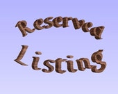 Reserved Listing:  Custom Sign Antique Brass Finished Double Scroll Wood Carved Plaque