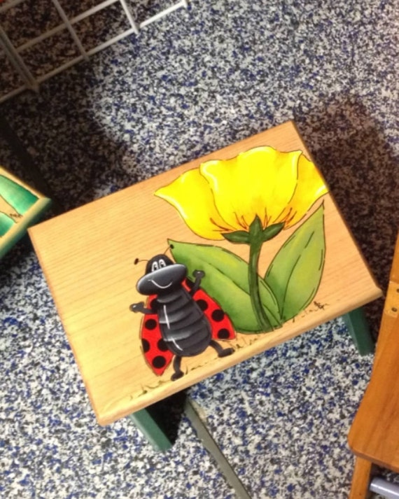 Ladybug Personalized Children S Step Stool Kids Bathroom