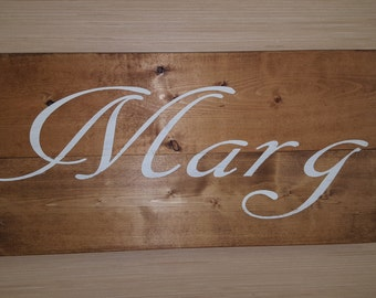 Custom wedding gift, Custom name sign, pallet last name, wood sign rustic family established sign, distressed personalized sign