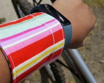 Multicolor Stripe Money Cuff Wrist Wallet