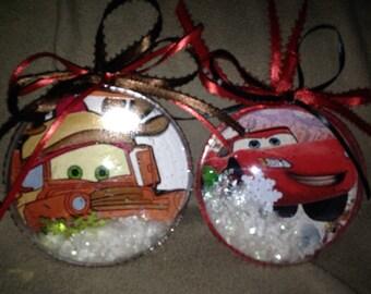 Set of 2 pixar cars and mater