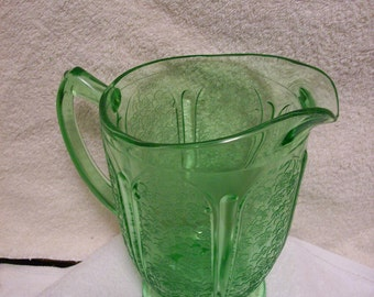 Cherry Blossom Pitcher by Jeanette Glass Company