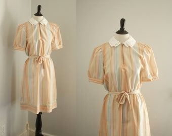 1970s dress | vintage 70s shirtwaist dress |