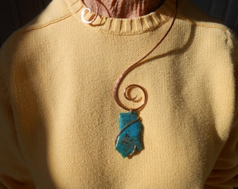 Hammered Copper Free Form Collar