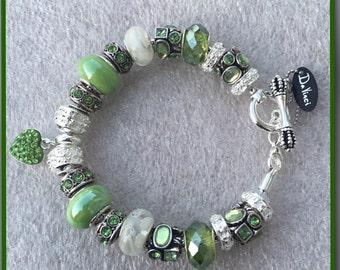 SAMPLE - DaVinci Trinkette European Style Custom Designed Birthstone Charm Bracelet Fashion Jewelry