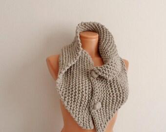My New design, Different handmade cowl,  Neckwarmer, scarf, cowl milky brown scarf, mocha scarf...