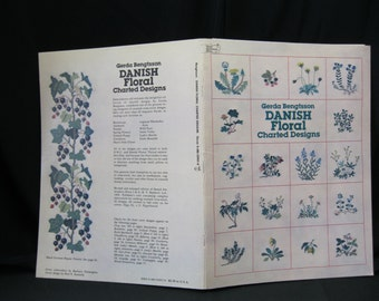 Danish Floral Charted Designs, by designer Gerda Bengtsson, Dover, 1980, 26 pages, over 40 floral designs, identified by name, color keyed