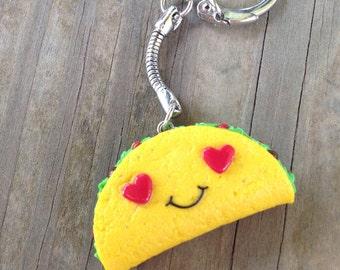 Kawaii Heart Eyed Monster Keychain