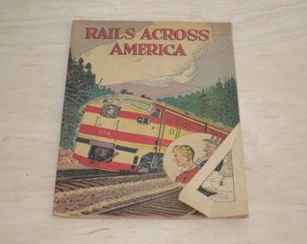 "Vintage ""Rails Across America"" Comic Book"