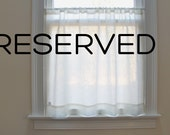 RESERVED for ctgirl933 - Gathered Cafe Curtain 1 Solid Panel