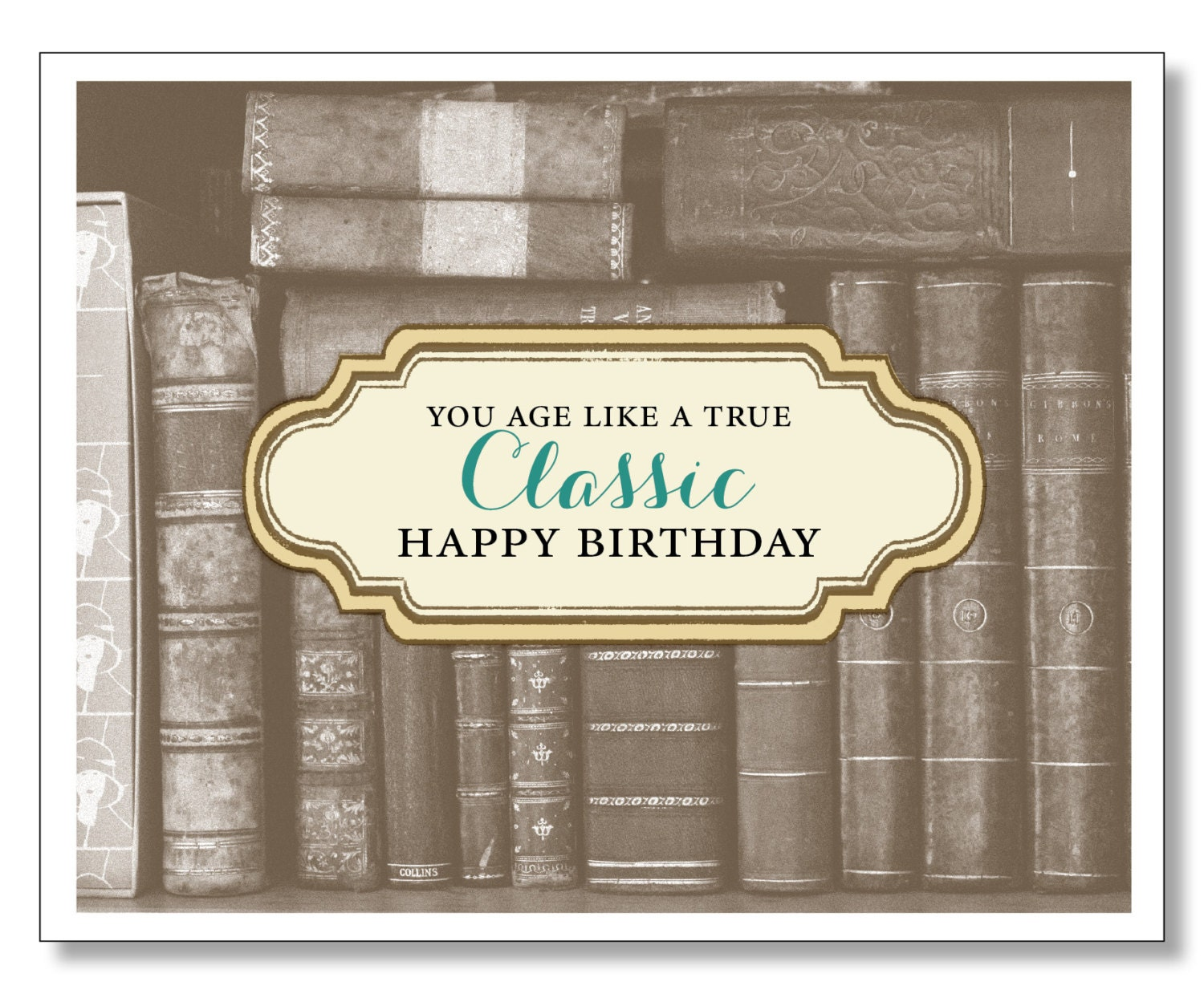 OVER THE HILL Birthday Card Book Lover Card Funny Sweet Kind – Birthday Card Book