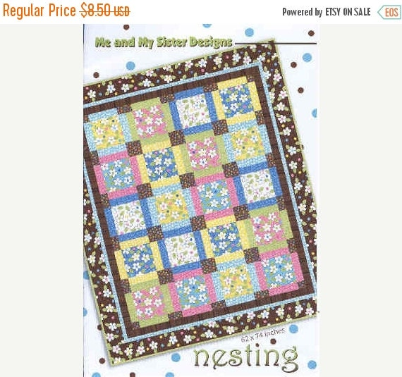 ON SALE Nesting Lap Throw Quilt Pattern by Me and My Sister Designs