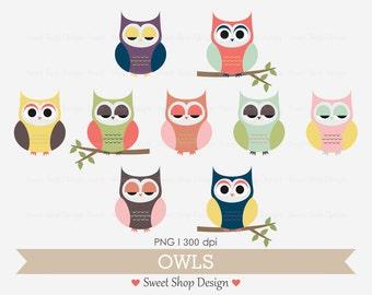 Baby Shower Clip Art, Baby Clip Art, Digital Clip Art, Baby Shower, OWLS, Instant Download
