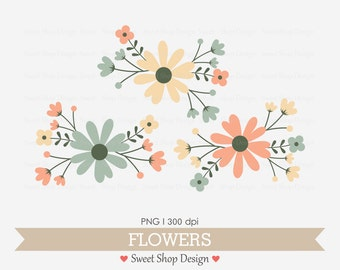 Flower Clip Art, Wedding Clip Art, Royalty Free Clip Art, N05, Instant Download