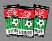 Soccer Valentine Cards sports kids boys Printable Classroom PDF
