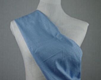 Linen Sling Pouch Baby Carrier - Light Blue Made by Earthslings - Medium