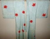 SUMMER SALE 20%off!! Vintage kimono - Shibori / Red maple leafs