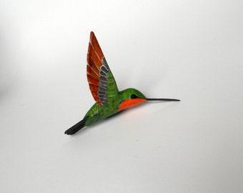 hummingbird art bird sculpture paper machè ornament bird