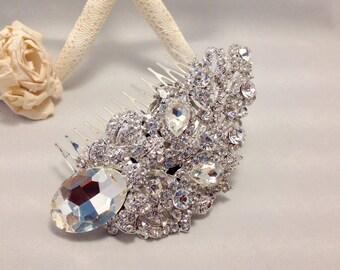 Bridal Hair Comb Brooch Boquet Hair Comb Bridal Headpiece Acessories Rhinestones