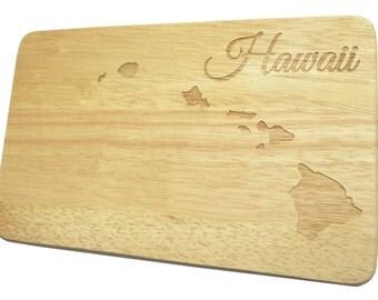 Breakfast breakfast Board Hawaii USA engraving Pacific South Pacific wood - board - engraving