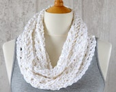 KNITTING PATTERN Lace Scarf Simple Knit Pattern Infinity Scarf Instant Digital Download Beginner knitting tutorial